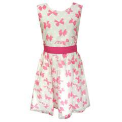Mädchen festliches Kleid Abendkleid Schleifen-Muster, rosa - 971302