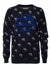 Jungen Strickpullover Pullover Langarmshirt, blau - B-FW16-KWV261