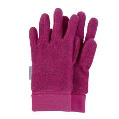 Mädchen Handschuhe Fingerhandschuhe aus Fleece mit Stulpe, magenta mel. – 4331410