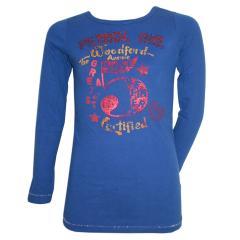 Mädchen Langarmshirt Shirt, blau