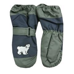 Fäustlinge Kinder Handschuhe Jungen gefüttert Eisbär, dunkelblau - 9503609