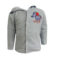 Baby Jungen Jacke Jäckchen mit Elefantmotiv, blau