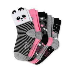 """Mädchen Socken 5er-Pack gemustert """"Panda"""", grau - 172632"""