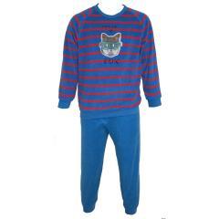 Langarm Schlafanzug Jungen Hund, blau