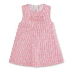 Mädchen Baby Kleid, UV-Schutz 30, gefüttert, pink gepunktet - 2851902