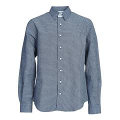 Jungen festliches Hemd langarm Slim-Fit gemustert, dunkelblau - 5553800db