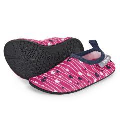 """Mädchen Aqua-Schuhe Wasserschuhe mit elastischem Bund und rutschfester Sohle """"Herzen"""", magenta – 2512014"""