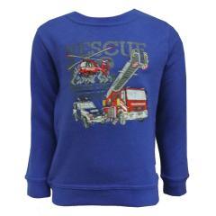 Jungen Sweatshirt gefüttert Einsatzfahrzeuge, blau - 75111143