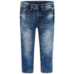 Jungen lange Jeanshose SlimFit, jeansblau - 3534