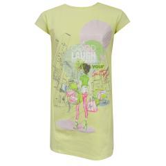 Mädchen Kleid kurzarm Frühlingskleid Tunika, gelb - 3985