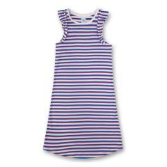 Mädchen Nachthemd, cornflower, Streifen - 244730
