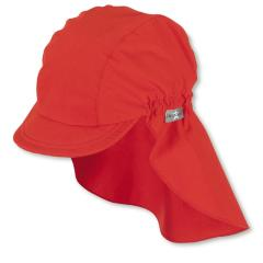 Mädchen Schirmmütze mit Nackenschutz, Sommermütze, LSF 50+,  rot - 1521930