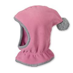 Mädchen Mütze gefüttert Wintermütze Schalmütze mit Bommel Microfleece, helllila - 4521645