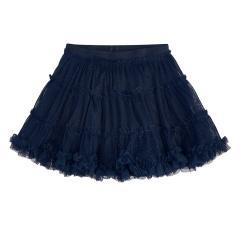 Mädchen Rock mit Tüll Tüllrock Glitter Rüschendetails, dunkelblau - 4.953