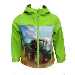 """Jungen Regenjacke Softshelljacke, wasserabweisend,winddicht """"Traktor"""" , grün -8482802"""
