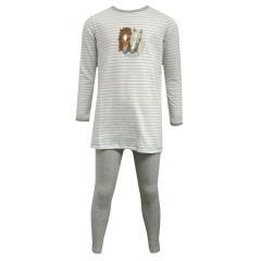 Schiesser Mädchen Zweiteiliger Schlafanzug Lang, grau - 159110