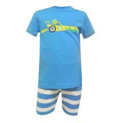 Jungen Schlafanzug Rennwagen, blau
