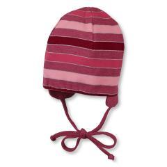 Mütze Wendemütze Übergangsmütze Mädchen zum Binden und Ohrenschutz von Sterntaler, rot - 4501705