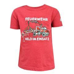 Jungen T-Shirt Kurzarm-Shirt Feuerwehr, rot - 73112134r