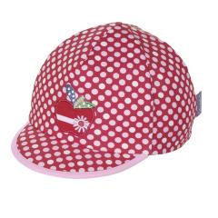 Schildmütze Base Cap Mädchen gepunktet Apfel, rot