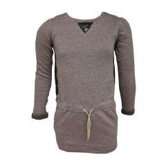 Mädchen Kleid Langarmkleid zum Binden, 2-farbig