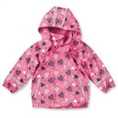 Mädchen Regenjacke Multifunktionsjacke mit Fleecejacke von Sterntaler, Herzen, rosa - 5651712