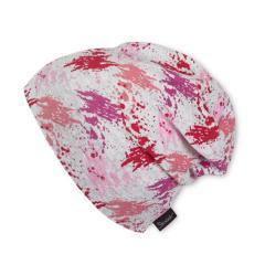 Slouch-Beanie Mütze Mädchen Farbkleckse, pink - 1521809