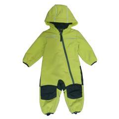 Baby Kinder Jungen Softshell-Overall Schneeanzug gefüttert wasserdicht 10.000 mm Wassersäule atmungsaktiv winddicht, lime  - 14411161