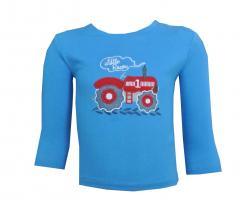 Jungen Langarmshirt mit Traktor, blau - 73211120