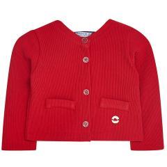 Baby Mädchen festliche Strickjacke Sweatjacke, rot - 153