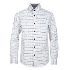 Jungen Festliches Hemd langarm Slim Fit Sterne, weiß - 5550600