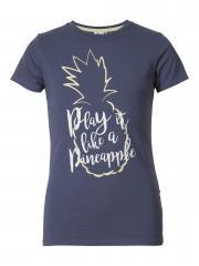Mädchen T-Shirt kurzarm Shirt Ananas, dunkelblau - TSR211