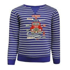 Baby Jungen Langarmshirt Shirt gestreift Feuerwehr, blau - 65211121