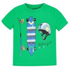 Mayoral Jungen T-shirt kurzarm mit Sport-Motiv,  grün - 3.029g