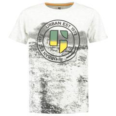 """Jungen T-Shirt Garcia, Logo """"urban est 1972"""", weiß - B93611"""