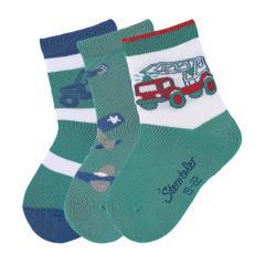 """3-er Set Jungen Socken """"Fahrzeuge"""", eukalyptus - 8321821"""