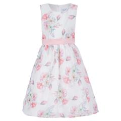 """Mädchen Festmode festliches Kleid """"Blumen"""" ,weiß/rosa -504173"""