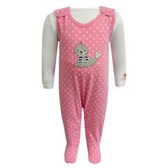 Strampler Mädchen Robbe mit Sternen, rosa - 73824250
