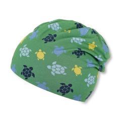 """Jungen Kinder Baby Mütze LSF UV-Schutz 50+ Sommermütze Slouch-Beanie Baumwollmütze """"Schildkröten"""", waldgrün – 1612062"""