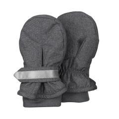 """Jungen Handschuhe Fausthandschuhe mit Stulpe und reflektierendem Klettverschluss, wasserabweisendes Material """"meliert"""", anthrazit mel. - 4301842"""