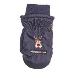 Fäustlinge Kinder Handschuhe Jungen gefüttert, Rentier, dunkelblau - 9506802db