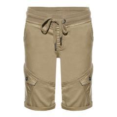 Jungen kurze Hose,  Cargo-Shorts mit verstellbarem Bund , braun -2211-4842