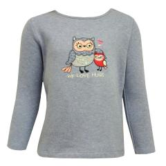Baby Mädchen Langarmshirt Shirt Sweater Eule, blau - 65211211