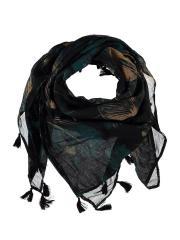 Schaltuch Mädchen gemustert, schwarz - X62531