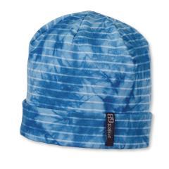 Jungen Beanie Sommermütze mit blauen Streifen gemustert, blau - 1531703