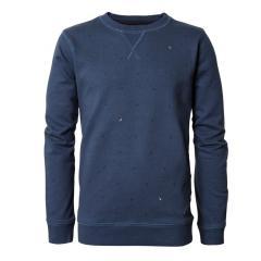 Jungen Pullover Jersey Sweatshirt Langarmshirt mit Muster, blau - B-PS19-SWR383