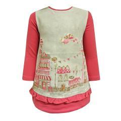 Baby Mädchen Kleid Winterlandschaft, rosa