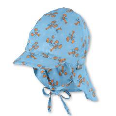 """Jungen Baby Kinder Schirmmütze zum Binden LSF UV-Schutz 15 Sommermütze Schildmütze mit Nackenschutz """"Krebse"""", himmelblau – 1612033"""