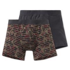Jungen Unterhosen Shorts 2er Set, olivgrün-grau - 163245