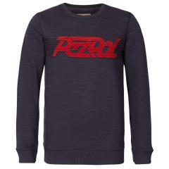 Jungen Sweatshirt Pulli langarm Sweater mit Schriftzug Petrol Ind., dunkelgrau - B-3090-SWR325